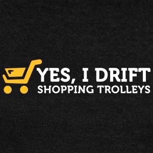 Yes! I Drift With Shopping Cart In The Supermarket - Women's Boat Neck Long Sleeve Top