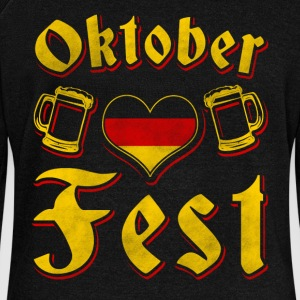 Oktobefest shirt - Women's Boat Neck Long Sleeve Top