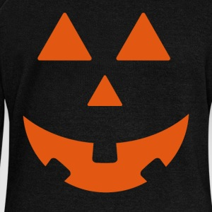 Halloween Pumpkin Design - Women's Boat Neck Long Sleeve Top