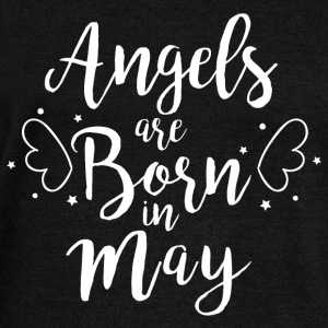 Angels are born in May - Women's Boat Neck Long Sleeve Top