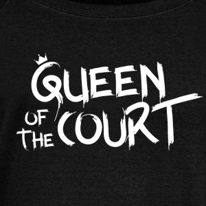 Queen of the court - Women's Boat Neck Long Sleeve Top
