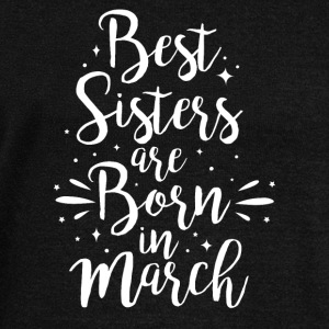 Best sisters are born in March - Women's Boat Neck Long Sleeve Top