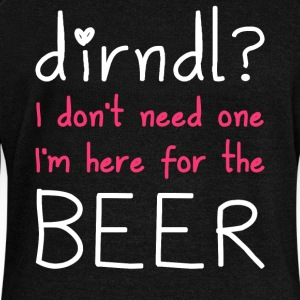 Dirndl? I'm here for the beer - Women's Boat Neck Long Sleeve Top