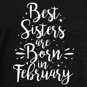 Best sisters are born in February - Frauen Pullover mit U-Boot-Ausschnitt von Bella