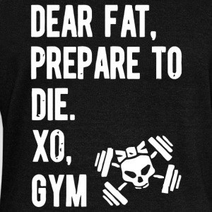 Dear fat prepare to die xo gym - Women's Boat Neck Long Sleeve Top