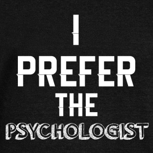 I prefer the psychologists funny sayings - Women's Boat Neck Long Sleeve Top
