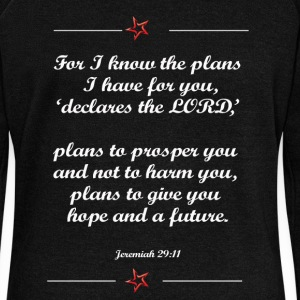For I know the plan I have for you shirt - Women's Boat Neck Long Sleeve Top