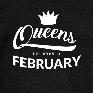 Queens are born in February - Women's Boat Neck Long Sleeve Top