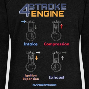 4stroke engine - Women's Boat Neck Long Sleeve Top