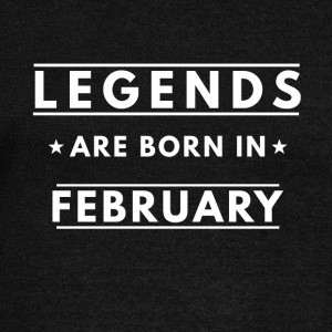 LEGENDS ARE BORN IN FEBRUARY - Women's Boat Neck Long Sleeve Top