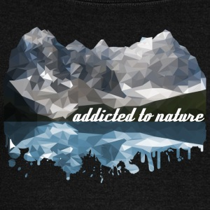 addicted to nature - Women's Boat Neck Long Sleeve Top