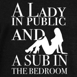 A Lady in public and a sub in the bedroom - Frauen Pullover mit U-Boot-Ausschnitt von Bella