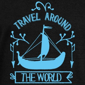 Travel around the world - Frauen Pullover mit U-Boot-Ausschnitt von Bella