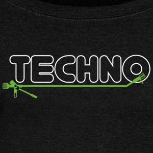 Techno turntable - Women's Boat Neck Long Sleeve Top