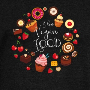 Vegan food cake pie muffin cupcake sweet Donat - Women's Boat Neck Long Sleeve Top