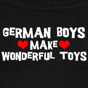 German Men Boys Make Wonderful Toys - Women's Boat Neck Long Sleeve Top