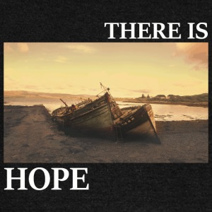 There_is_hope_picture_white_letters - Pull Femme col bateau de Bella