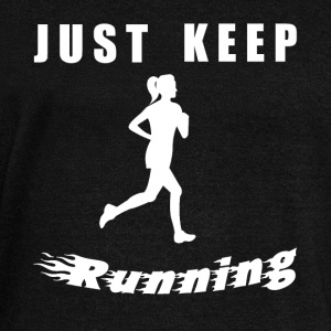 JUST KEEP RUNNING - Women's Boat Neck Long Sleeve Top