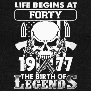 1977 the birth of the Legends shirt - Women's Boat Neck Long Sleeve Top