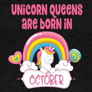 Unicorn Queens are born in October - Women's Boat Neck Long Sleeve Top