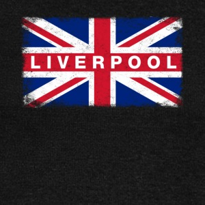 Liver Pool Shirt Vintage United Kingdom Flag - Women's Boat Neck Long Sleeve Top