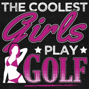 COOLEST GIRLS PLAY GOLF - Women's Boat Neck Long Sleeve Top