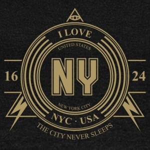 New York City Badge - Women's Boat Neck Long Sleeve Top
