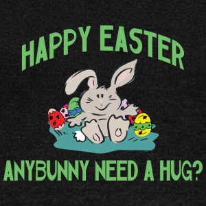 Happy Easter Any Bunny Need A Hug - Women's Boat Neck Long Sleeve Top