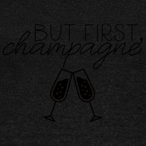 New Years Eve: But First, Champagne. - Women's Boat Neck Long Sleeve Top