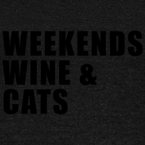 WEEKEND. WINE AND CATS! - Women's Boat Neck Long Sleeve Top