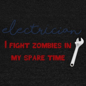 Elektriker: Electrician - I fight zombies in my sp - Frauen Pullover mit U-Boot-Ausschnitt von Bella