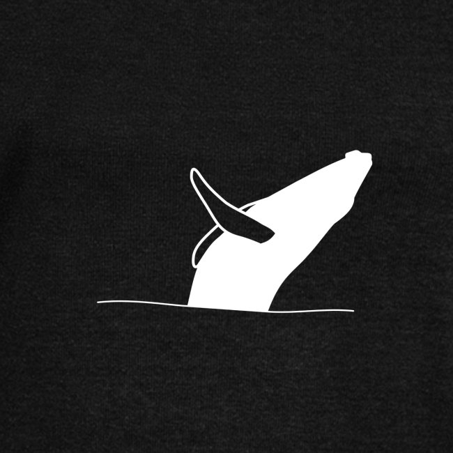 Jumping whale - white