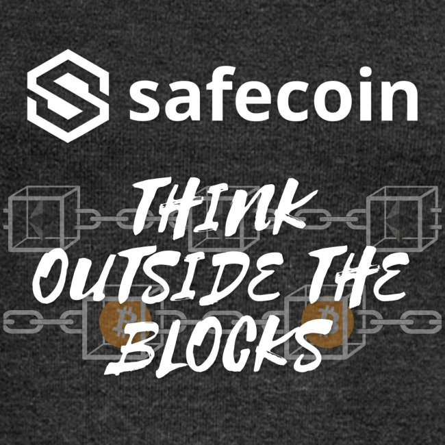 Safecoin Think Outside the Blocks (white)