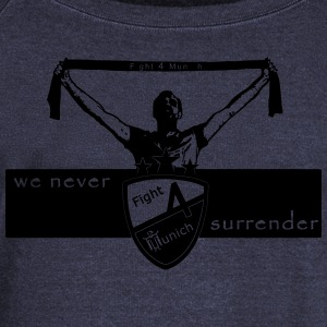 Fight 4 Munich - we never surrender - Women's Boat Neck Long Sleeve Top