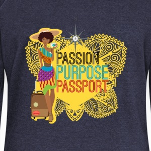 Passion, Purpose,Passport - Pull Femme col bateau de Bella
