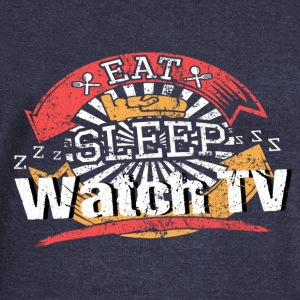 Eat Sleep TV - Women's Boat Neck Long Sleeve Top