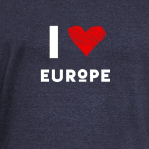 I Love Europe eu heart red love fun statement Demo - Women's Boat Neck Long Sleeve Top