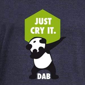 dab cry panda dabbing touchdown just cry it funny - Women's Boat Neck Long Sleeve Top
