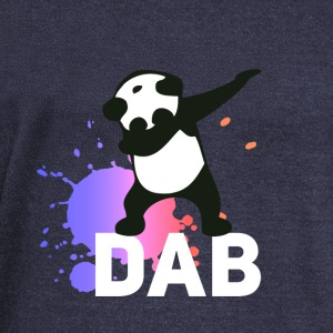 dab spatter panda dabbing touchdown fun cool LOL - Women's Boat Neck Long Sleeve Top