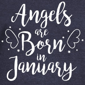 Angels are born in January - Women's Boat Neck Long Sleeve Top