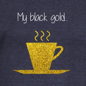 COFFEE MY BLACK GOLD - Damegenser med båthals fra Bella