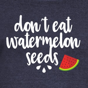 Dont eat watermelon seeds - white - Women's Boat Neck Long Sleeve Top