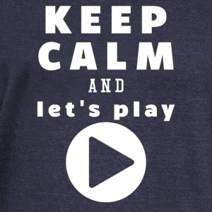 Keep Calm And Let's Play - Women's Boat Neck Long Sleeve Top