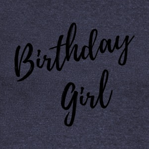 USA TRADEMARKED birthday girl black - Women's Boat Neck Long Sleeve Top