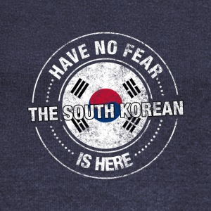 Have No Fear The South Korean Is Here - Women's Boat Neck Long Sleeve Top