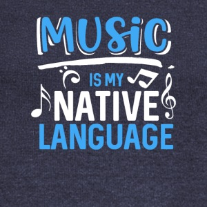 Music is my native language - Women's Boat Neck Long Sleeve Top