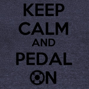 Keep Calm and Pedal On! - Frauen Pullover mit U-Boot-Ausschnitt von Bella