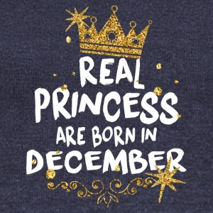 Correct princesses are born in December! - Women's Boat Neck Long Sleeve Top