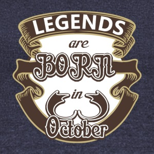 Birthday October legends born gift birth - Women's Boat Neck Long Sleeve Top