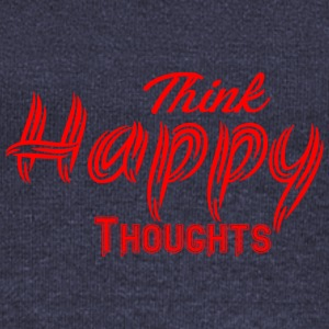 THINK HAPPY THOUGHTS - Women's Boat Neck Long Sleeve Top